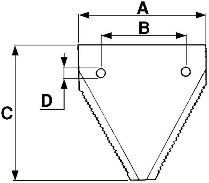 Section dentée 443003 adaptable faucheuse LAVERDA (Lot de 5) 2