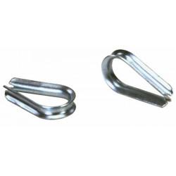 Cosse coeur pour câble Ø 8 ou Ø 9 - DIN 6899A (Lot de 10 )