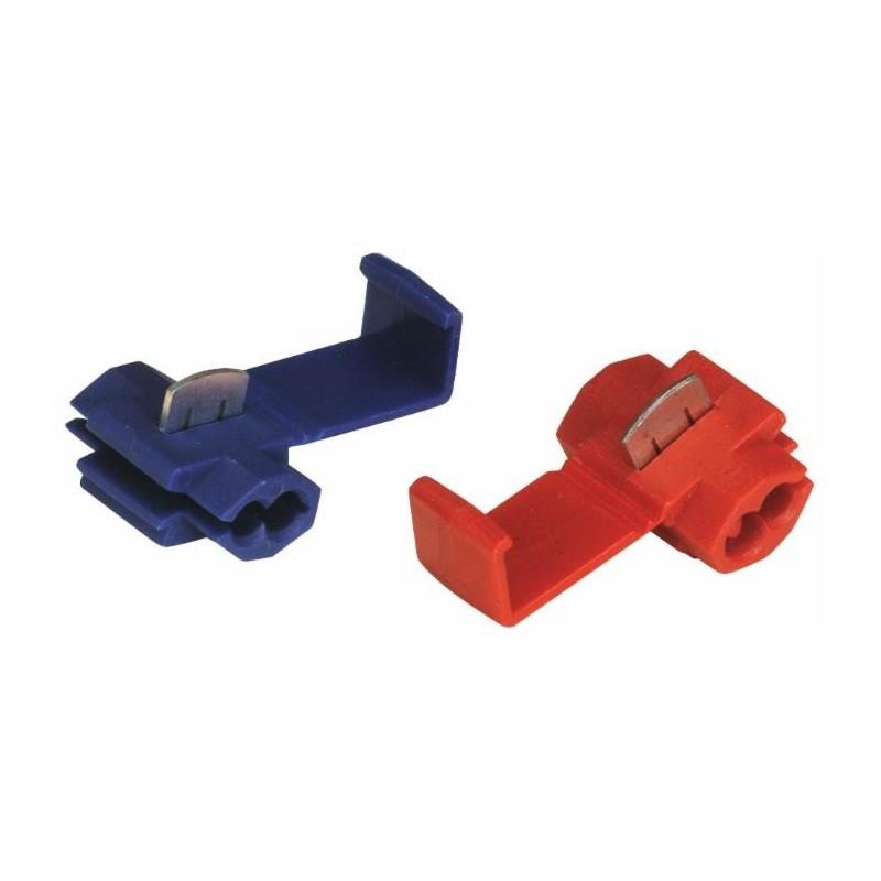 Cosses connecteurs dérivation bleu 1 à 2,5 mm² (Lot de 25 )