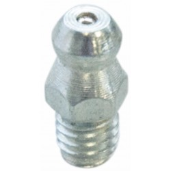 Graisseur droit M10x1,5 acier zingué (Lot de 10 pièces)