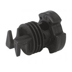 Isolateur à blocage par vis pour piquet métal et PVC (Lot de 10 )