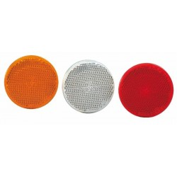 Catadioptre ø 60 orange avec vis et écrou M5 (Lot de 4 )