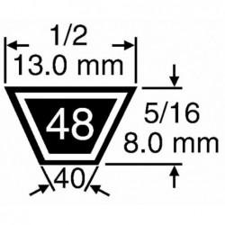 Courroie Kevlar 4L490 13x8...